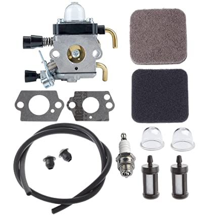 HIPA Carburetor with Fuel Repower Kit Air Filter for STIHL Hedge Trimmer  HS72 HS74 HS76 Brushcutter