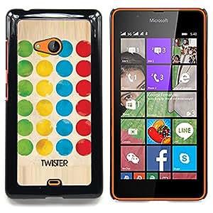 For Nokia Lumia 540 Case , Twist juego Diversión Familiar Niños - Diseño Patrón Teléfono Caso Cubierta Case Bumper Duro Protección Case Cover Funda
