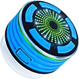 Bluetooth Shower Speaker with FM Radio, DLAND Waterproof ( IP67 Grade ) Wireless Portable Bluetooth V4.0 Speaker with Mp3 Player,Speakerphone and Multiple Color LED Light Functions