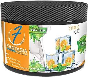 Fantasia Herbal, Hookah Shisha Flavor, 250g Can, Tobacco Free, Nicotine Free, Citrus Ice (Orange, Tangerine, Lime, Mint)