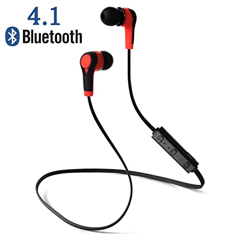 Auricolari Wireless Bluetooth 4.1 Headset Headphone Stereo Cuffie Sport con  Microfono per iPhone 6s plus 6s 41a72395400f