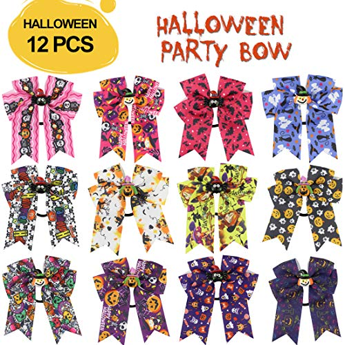 Halloween Hair Bows Christmas Presents Girls Outdoor Red Tie Ponytail Holders Bulk 4 inches 12 PCS Dog Mini Decorations Costumes for Women -