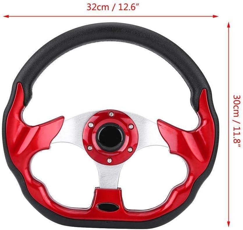 Rouge KSTE 320mm la derni/ère Fibre de Carbone Racing Steer Modification Mini D/érive Volant