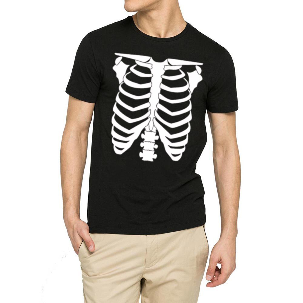 Loo Show S Halloween Skeleton Rib Cage Funny Casual Graphic T Shirts Tee