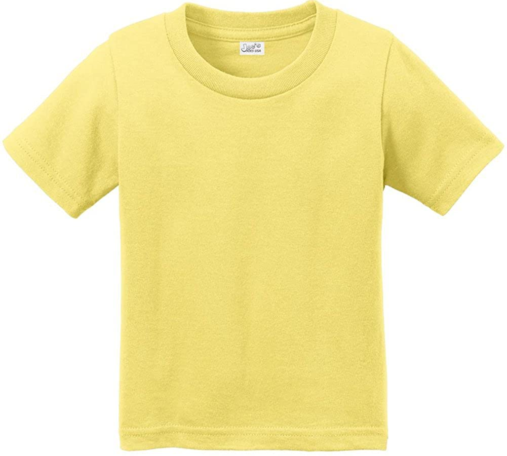 Joes USA Infant Soft and Cozy Cotton T-Shirts in 12 Colors