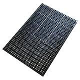 A1 Home Collections A1HCHA01-BLA Doormat Octagonal Holes, 100% Rubber, Ramp Kitchen/Outdoor Anti Fatigue Mat