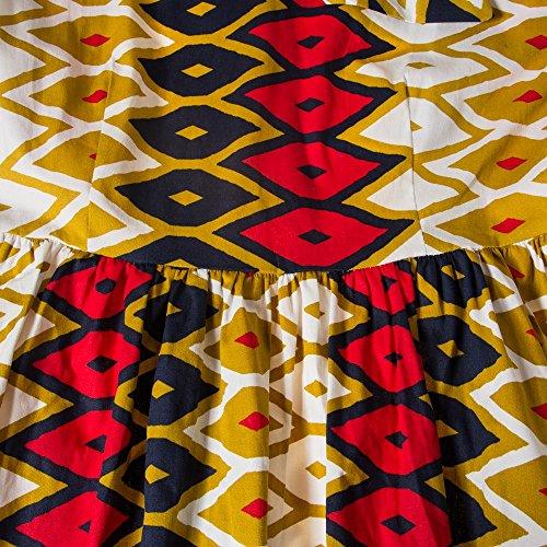 Beauty7 Patchwork Costura Retro Sin Mangas Tirantes Cuello Bajo Arco Falda Grande Coctel Noche Fiestas Ceremonia Vestidos Mujeres Negro Rojo Dress Elegante Moda