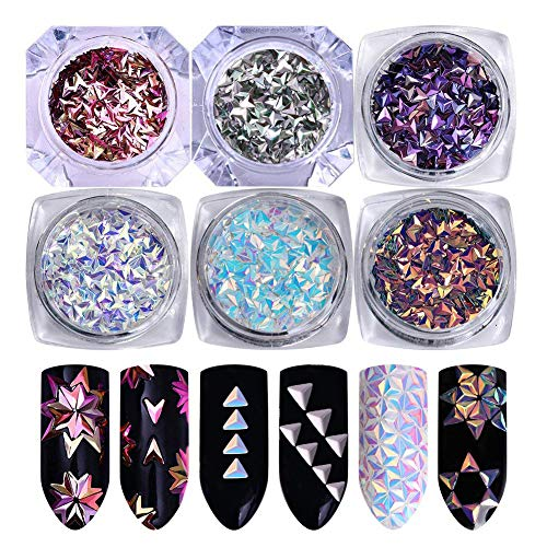 NICOLE DIARY 6 Boxes Chameleon 3D Nail Studs Sparkle for sale  Delivered anywhere in USA