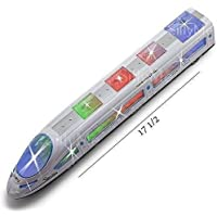 Ionix Bump and Go High Speed Bullet Train Toy Train- 3D Lighting and Musical Fun Sounds - Toy for Kids Birthday Gift , Kids Toys , Toy Train Under 200