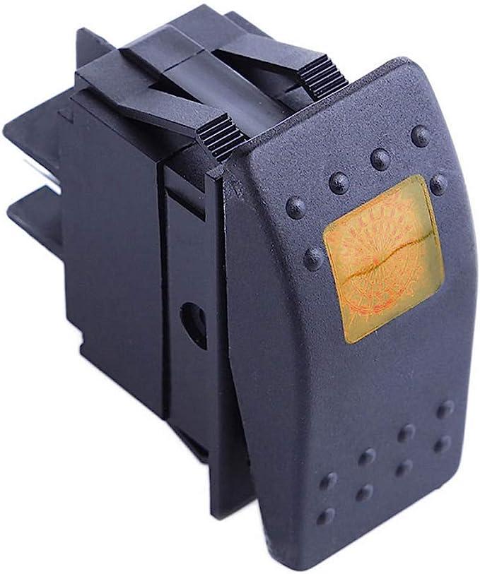 Mintice Kfz Auto Kippschalter Druckschalter Schalter Wippschalter Wasserdicht 12v 20a Gelb Led Licht Lampe 4pin An Aus Auto