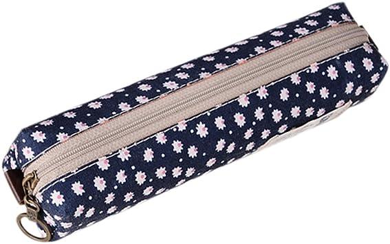 Vi.yo 1 pcs Bolso para lápices Bolso de Cosméticos Estuche de lápices Floral pequeño 20.5*4*5cm Tela: Amazon.es: Juguetes y juegos