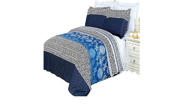 Modern Luxury Lydia Printed Cotton 3 Piece Duvet Covers Set Reactive Prints