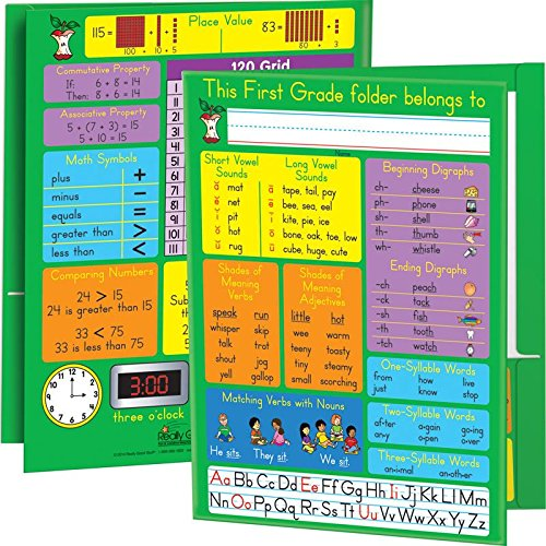 Really Good Stuff 161800 Common Core Resource Folders - First Grade, Assorted by Really Good Stuff