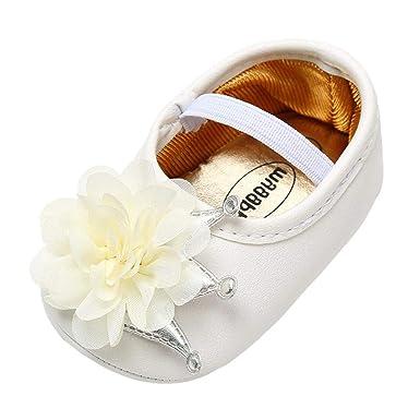 2d3e0f055c008 Amazon.com: KONFA Toddler Infant Baby Boys Girls Solid Flower Soft ...