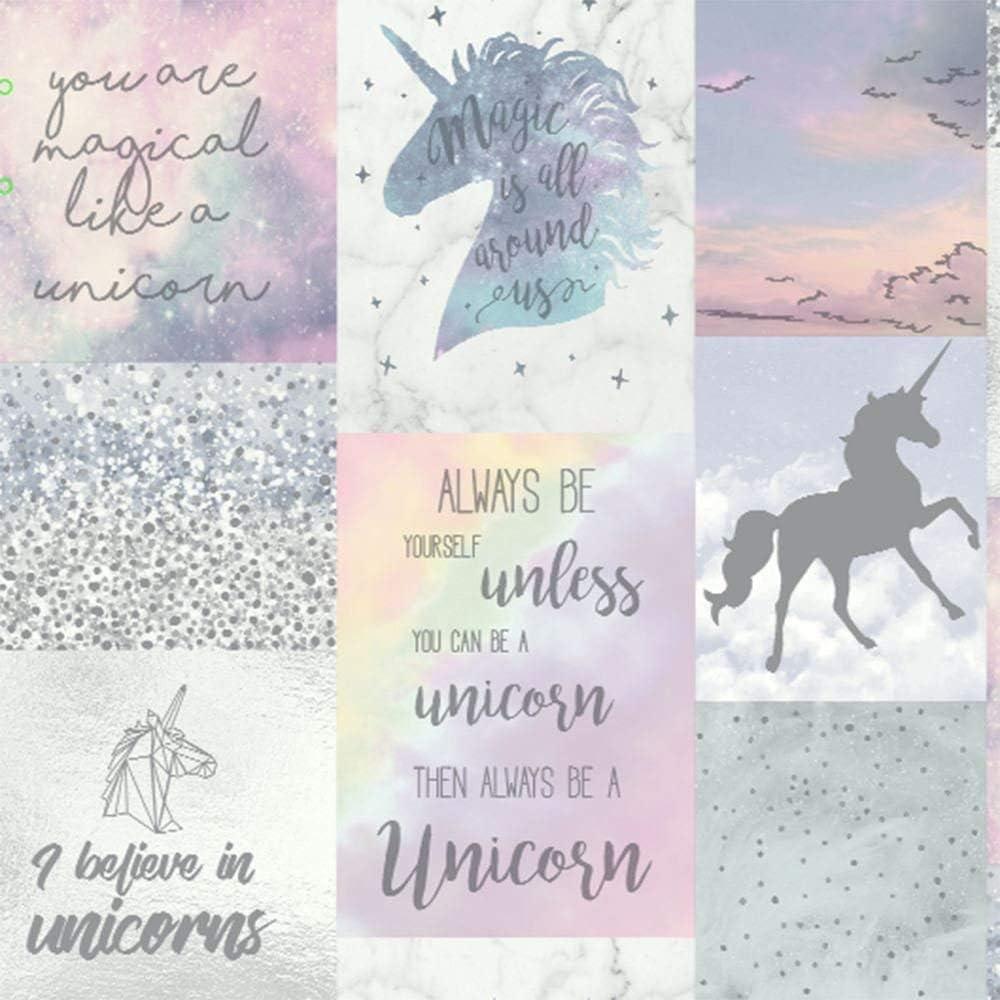 Amazon Com Arthouse Believe In Unicorns Wallpaper Multi Home