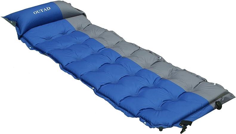 OUTAD Colchón Hinchable Automático Impermeable de Camping con 21 Puntos de Masaje