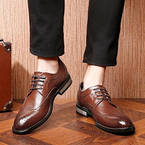 Business Black Shoes up HUAN Men's Work Dress Breathable Shoes Formal Mesh Shoes Fashion Leather Lace Formal nOHxHfZq