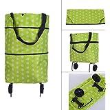 Sharp choice Fabric Lightweight Trolley Wheel Folding Luggage Bag (Random Color and Design)