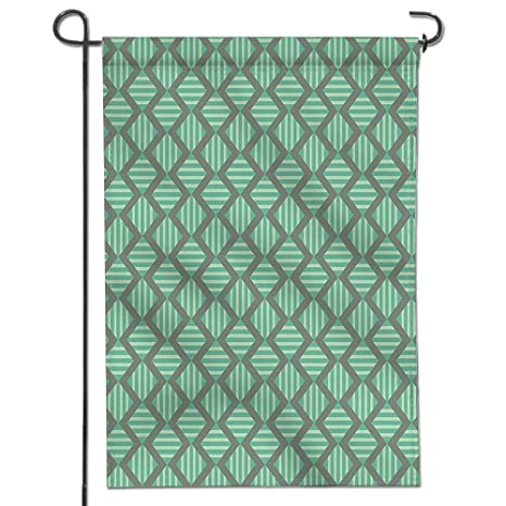 Garden Flag For Yard Decorations And Outdoor Decor Striped Pattern With  Bold Vertical Repeating Zig Zags