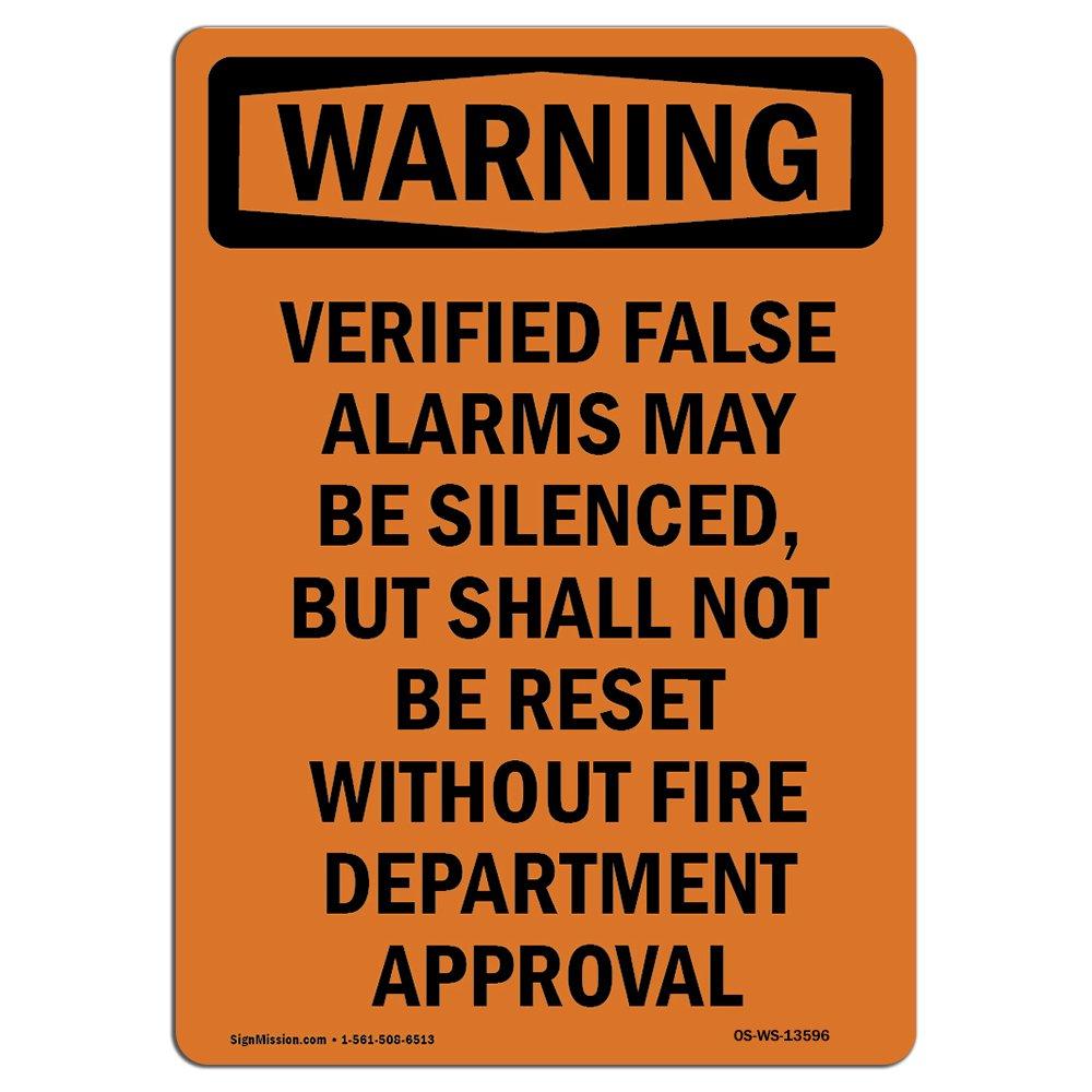 Letrero de advertencia de Osha - Alarmas falsas verificadas ...