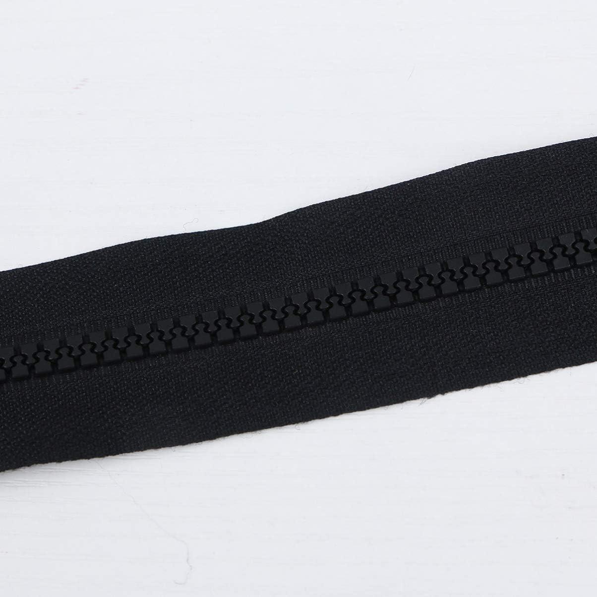 HEALLILY Nylon Zippers Separating Zipper Y-Teeth Metal Zippers for Jackets Coats Crafts 90cm