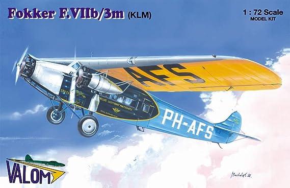 Plastic Model Building Kit # 72096 Valom 1//72 Scale Avia-Fokker F.VIIb.1
