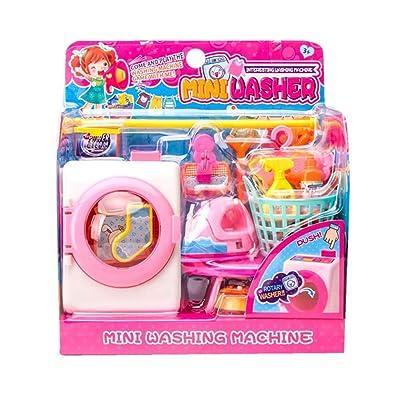 Novobey Washing Machine Toy, Simulation Housekeeping Miniature Washing Machine Playset Toys Set for Kids: Toys & Games [5Bkhe1401293]