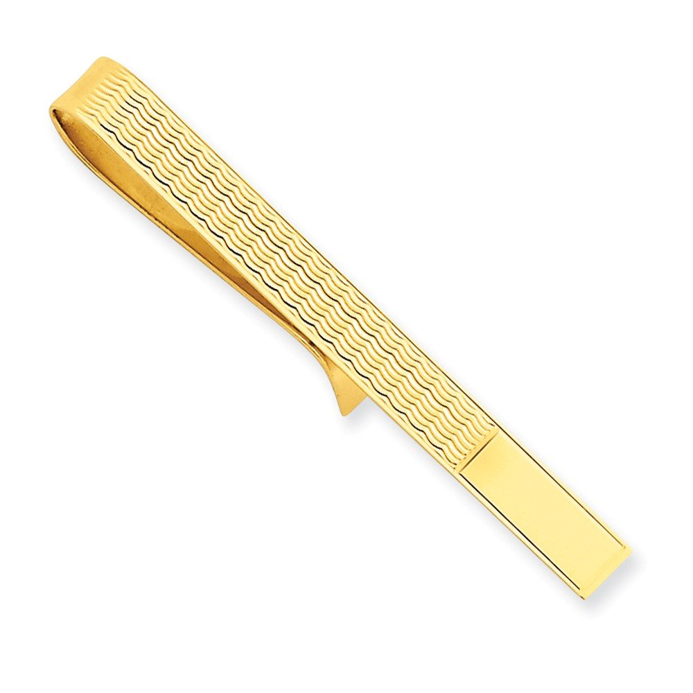 14k Solid Yellow Gold Tie Bar