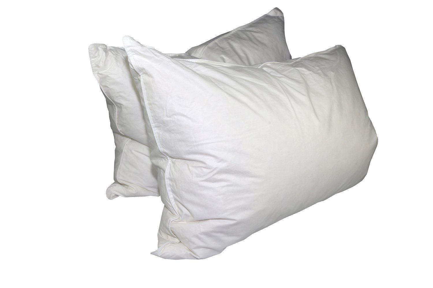 Pillowtex Triple Core White Duck Down and Feather King Size Pillow Set