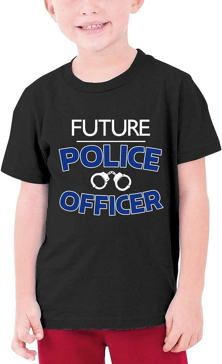 Negi Future Police Officer Boys Short-Sleeve T-Shirt