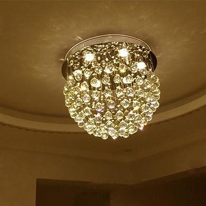 BJ Lámpara de Techo- Candelabro Redondo Salón Cristal Lámpara Piso Dúplex Villa Iluminación Escalera Línea