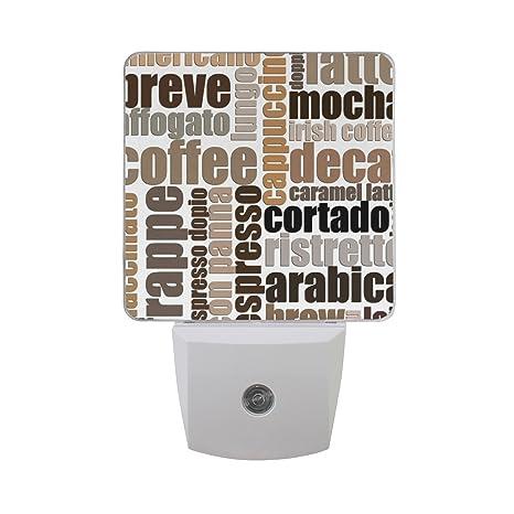 Wihve Vintage Letter Symbol Coffee Energy Saving Sensor Led Night