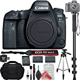 Canon EOS 6D Mark II Digital SLR Camera Body (Wi-Fi Enabled) BUNDLE! Camera + Monopod + Tripod + Replacement Battery + DSLR Case + Memory Card Reader + DigitalAndMore Professional Cleaning Solution