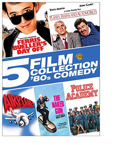 5 Film Collection: 80's Comedy (Ferris Bueller's Day Off/Planes, Trains And Automobiles/Airplane/The Naked Gun/Police Academy)