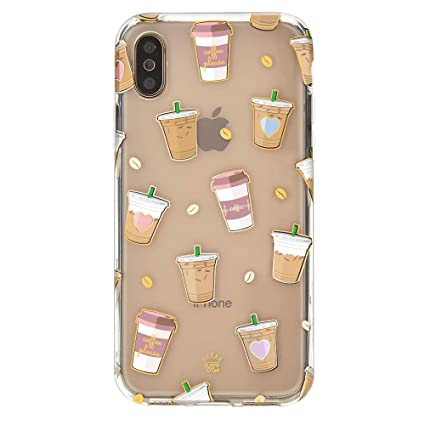 Velvet Caviar For Cute Iphone Xs Max Case Coffee Clear For Women Girls Protective Phone Cases Drop Test Certified Coffee