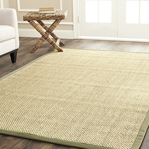 Safavieh Natural Fiber Collection NF443C Tiger Eye Natural and Green Sisal Area Rug (8