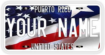 "Puerto Rico Custom Name PR Personalize 6/""x12/"" Aluminum License Plate Tag"