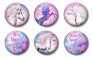 Cute Locker Magnets For Teens - Magical Unicorn Magnets - Fun School Supplies - Whiteboard Office or Fridge - Funny Magnet Gift Set (2)