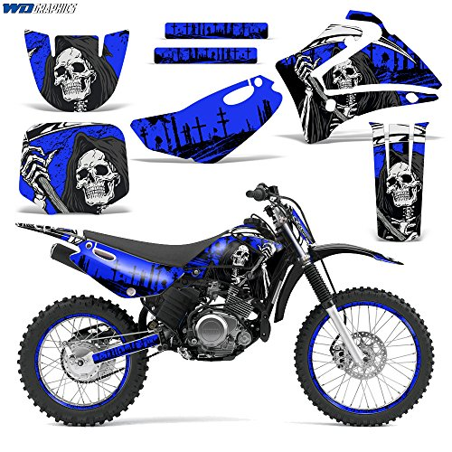 Yamaha TTR125 2000-2007 Decal Graphic kit Dirt Bike MX Motocross TTR 125 REAPER BLUE