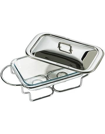 Fuente para mantener los alimentos calientes, de Premier Housewares, de acero inoxidable y 1