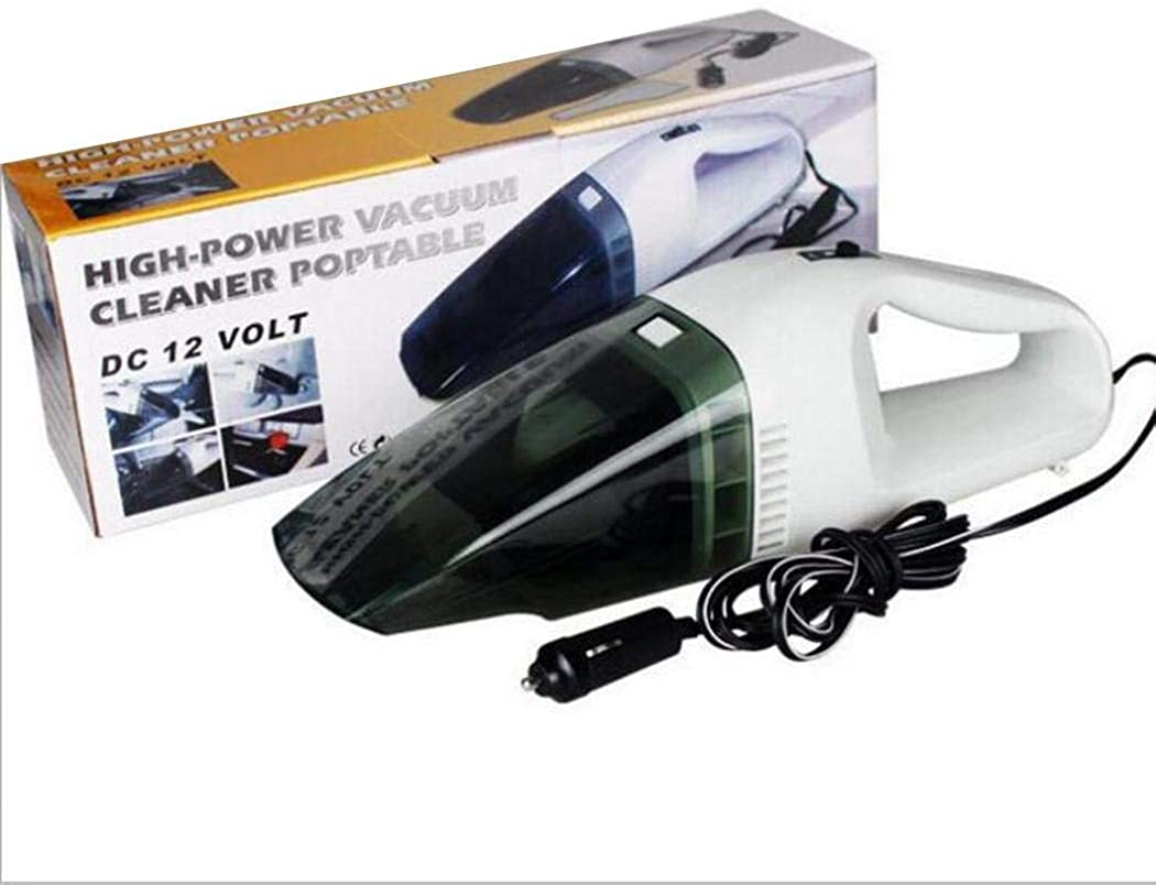 Onbay1 Wired Handheld Car Vacuum Cleaner Dry Wet Dust Strong Suction Vacuums White