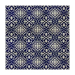 Garden and Outdoor Gertmenian 48210 Neptune Collection Prime Outdoor Rug, 9′ x 9′ Square, Navy Coral outdoor rugs