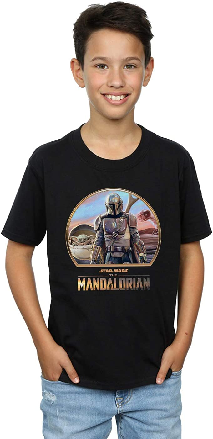 Star Wars Boys The Mandalorian Mando and The Child T-Shirt