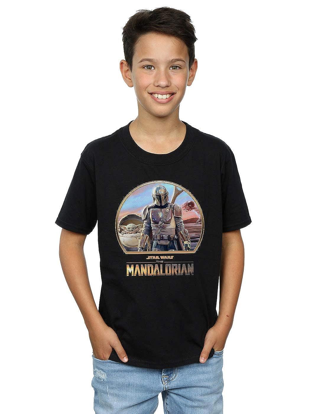 Star Wars Ni/ños The Mandalorian Mando and The Child Camiseta