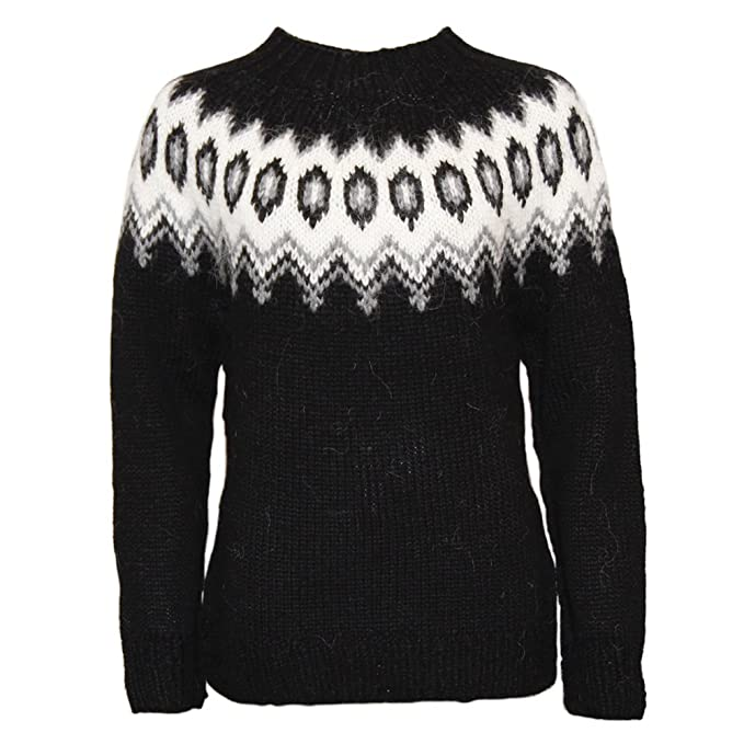 ICEWEAR Hulda 100% Icelandic Wool Hand Knitted Jumper with Crew Neck