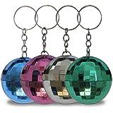 12 x HC-Handel 910514 Schlüsselanhänger Discokugel 4 cm verschiedene Farben