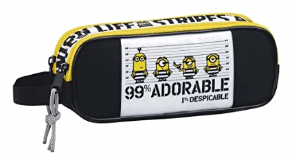 Amazon.com: Minions 3 Chico Pencil Cases, 21 cm, Multicolour ...