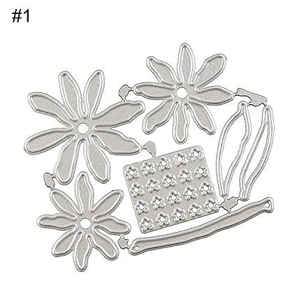 Troqueles de corte, clifcragrocl 3D margarita rododendro papel arte flor decoración troqueles de corte DIY