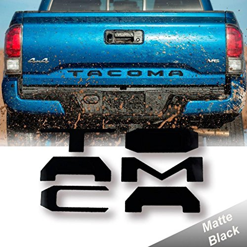 Xotic Tech Matte Black Vinyl Insert Letters Decal Sticker For 2016 2017 2018 Toyota Tacoma Tailgate
