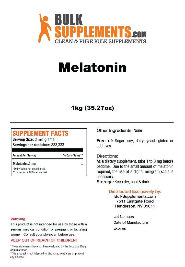 Amazon.com: BulkSupplements Melatonin Powder (250 grams): Health & Personal Care
